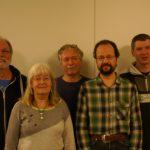 v.l.n.r.: Dieter Delvos, Ute Becker-Ewe, Peter Stellwagen, Michael Schütze, Rainer Tiedemann (es fehlt auf dem Bild Helmuth Sturmhoebel)