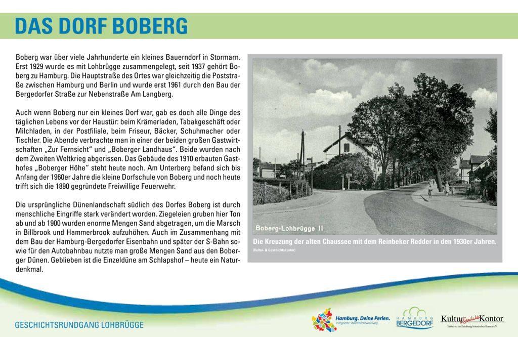 Das Dorf Boberg   Standort: Am Langberg, Höhe Am Heesen